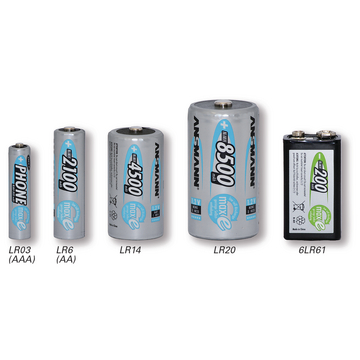 Ansmann rechargeable standard batteries